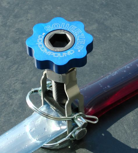 Line Clamp SQUEEZER for flow rate adjustment