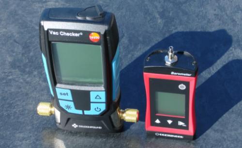 digital vacuum absolute pressure gauges G1114 and Vac Checker